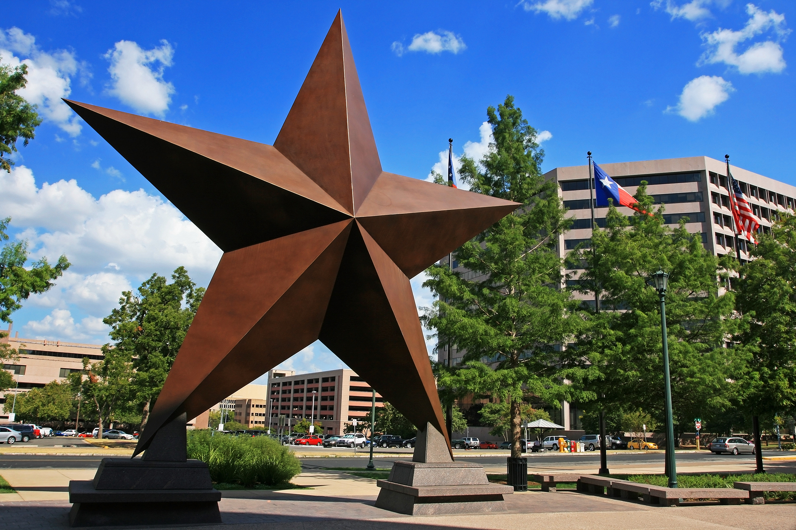 Big Star Decorated In Austin Town