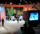 Video camera viewfinder - recording in TV studio