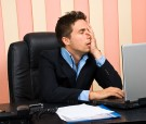 Stressed Business Man With Problems At Laptop